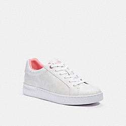 COACH C3123 Clip Low Top Sneaker OPTIC WHITE