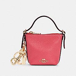 COACH C3125 Mini Val Duffle Bag Charm IM/FUCHSIA