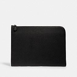 COACH C3143 L-zip Portfolio QB/BLACK