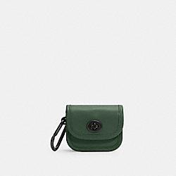 COACH C3163 Heritage Turnlock Bag Charm V5/DARK CLOVER