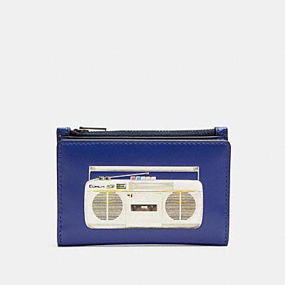 スリム バイフォールド カード ウォレット ウィズ 80'S ブームボックス グラフィック