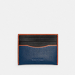 SLIM CARD CASE IN COLORBLOCK - C3214 - QB/TRUE BLUE MULTI