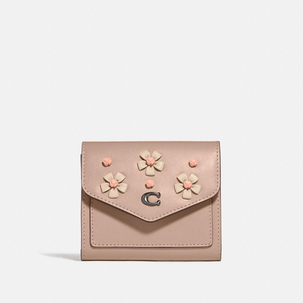 茶香玫瑰裝飾小型皮夾