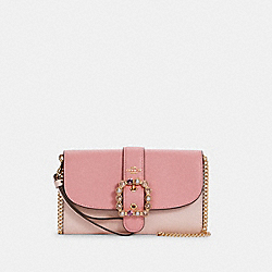 GEMMA CLUTCH CROSSBODY IN COLORBLOCK - IM/PALE PINK MULTI - COACH C3227