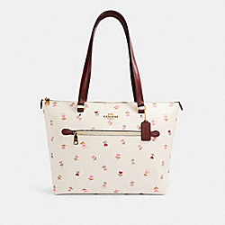 COACH C3242 Gallery Tote With Heart Floral Print IM/CHALK MULTI