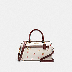 COACH C3243 Rowan Satchel With Heart Floral Print IM/CHALK MULTI