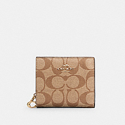 COACH C3309 - SNAP WALLET IN SIGNATURE CANVAS IM/KHAKI/BLACK