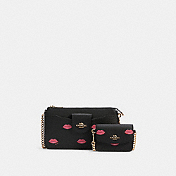 POPPY CROSSBODY WITH LIPS PRINT - IM/BLACK MULTI - COACH C3327