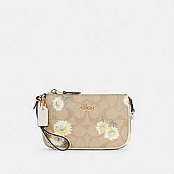 NOLITA 15 IN SIGNATURE CANVAS WITH DAISY PRINT - C3357 - IM/LIGHT KHAKI CHALK MULTI