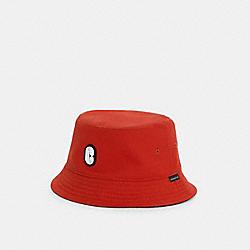 REVERSIBLE BUCKET HAT - C3401 - MANGO / CHARCOAL SIGNATURE
