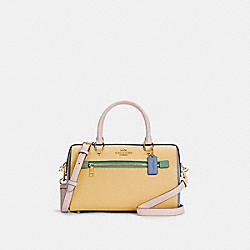 ROWAN SATCHEL IN COLORBLOCK - IM/VANILLA CREAM MULTI - COACH C3428