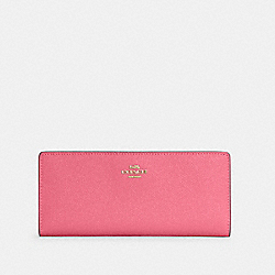 COACH C3440 Slim Wallet IM/CONFETTI PINK