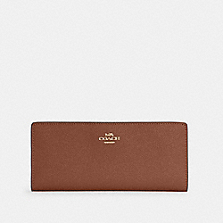 COACH C3440 - SLIM WALLET IM/REDWOOD
