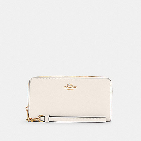 COACH C3441 LONG ZIP AROUND WALLET IM/CHALK