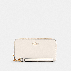 COACH C3441 Long Zip Around Wallet IM/CHALK