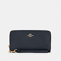 COACH C3441 - LONG ZIP AROUND WALLET IM/MIDNIGHT