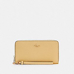 COACH C3441 - LONG ZIP AROUND WALLET IM/VANILLA CREAM