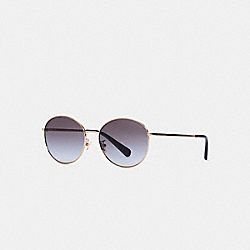 COACH C3482 - LIA ROUND SUNGLASSES GREY GRADIENT