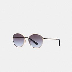 COACH C3482 Lia Round Sunglasses GREY GRADIENT
