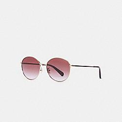 COACH C3482 Lia Round Sunglasses BROWN GRADIENT