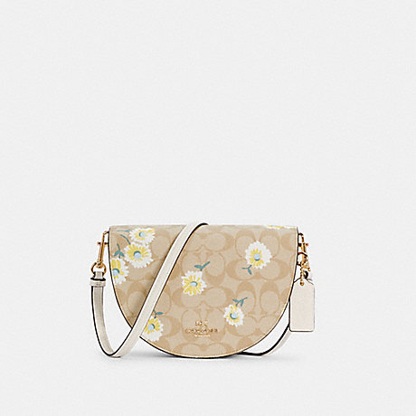 COACH C3597 ELLEN CROSSBODY IN SIGNATURE CANVAS WITH DAISY PRINT IM/LIGHT KHAKI CHALK MULTI