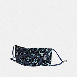 COACH C3604 Sharky Face Mask With Wild Beast Print DENIM