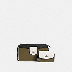 POPPY CROSSBODY IN COLORBLOCK - C3608 - QB/KELP MULTI