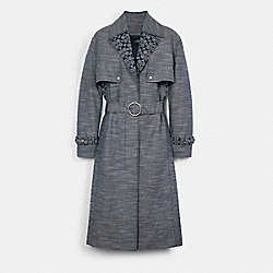 COACH C3660 - SIGNATURE CHAMBRAY TRENCH CHAMBRAY