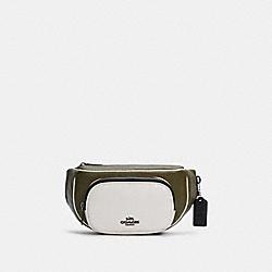 COACH C3684 Court Belt Bag In Colorblock QB/KELP MUTLI