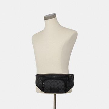 コーチ公式アウトレット | トラック ベルト バッグ シグネチャー キャンバス | ミニバッグ/ボディバッグ/ベルトバッグ
