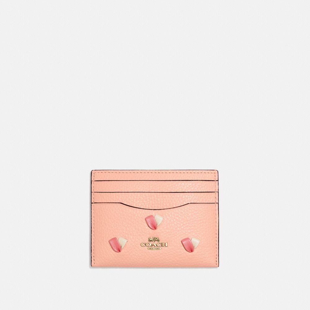 心形刺繡卡夾