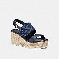 COACH C3835 Kami Wedge DENIM