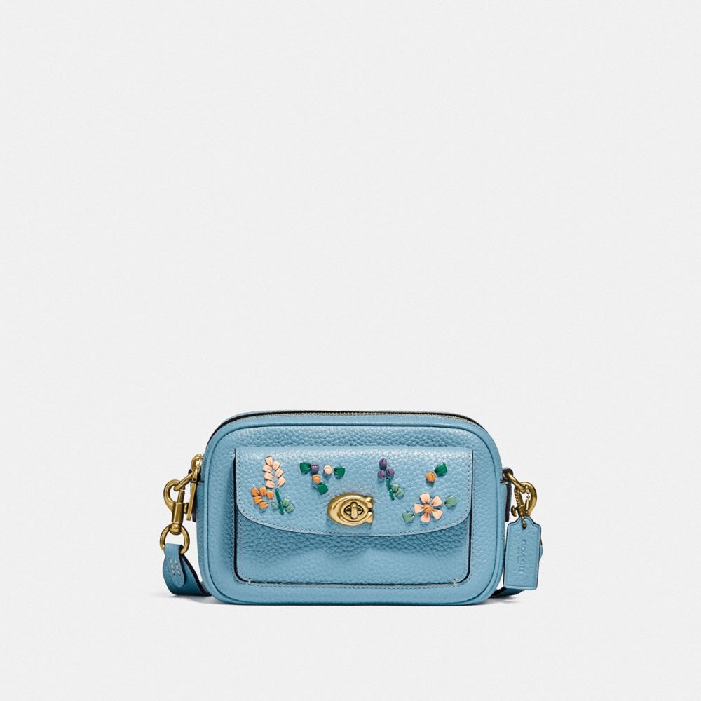 WILLOW CAMERA BAG WITH FLORAL EMBROIDERY