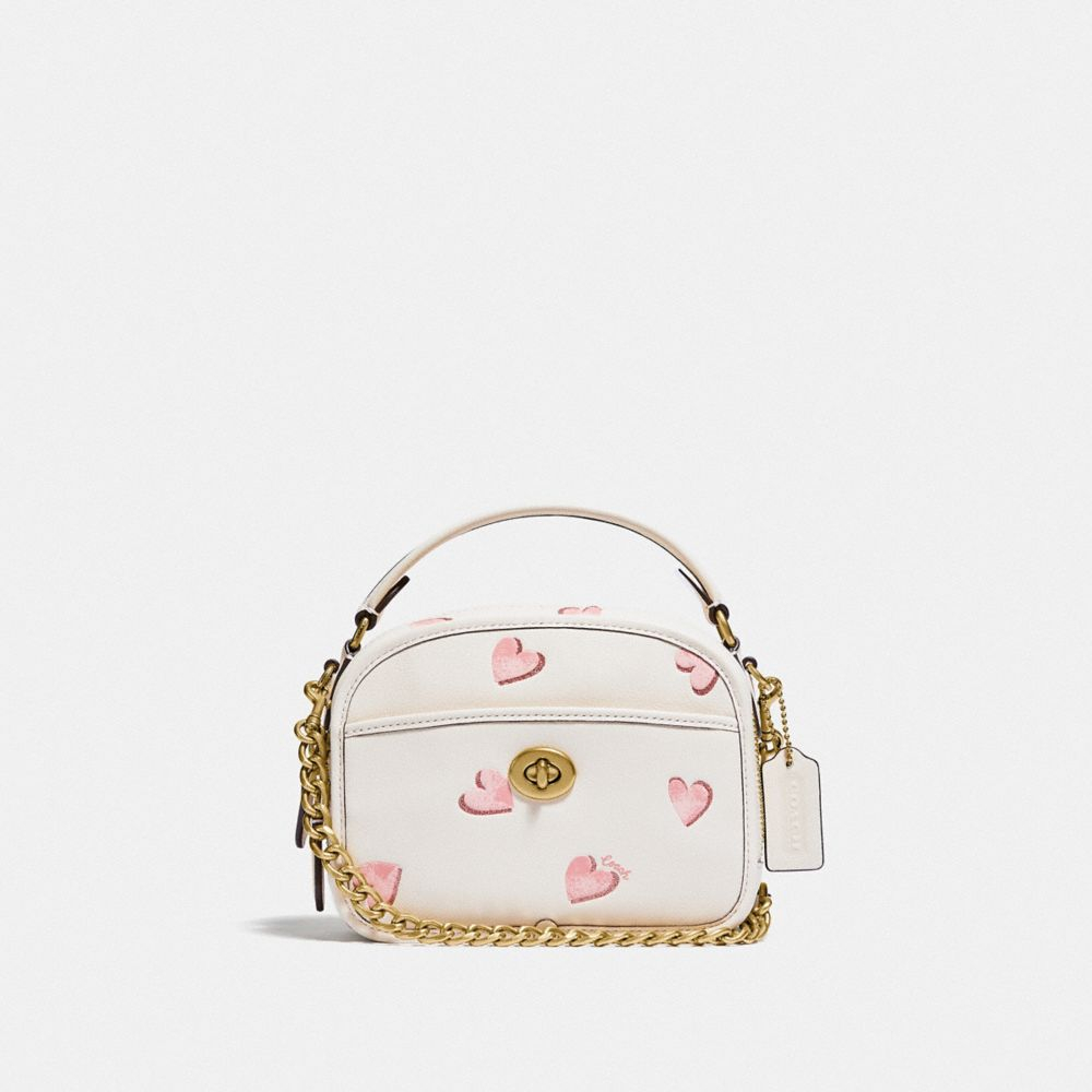 LUNCHBOX TOP HANDLE WITH HEART PRINT