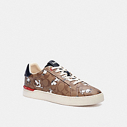 COACH X PEANUTS CLIP LOW TOP SNEAKER WITH SNOOPY PRINT - C3952 - KHAKI