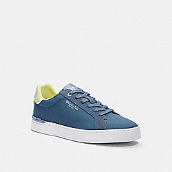 COACH C3953 - CLIP LOW TOP SNEAKER BLUE QUARTZ PALE LIME