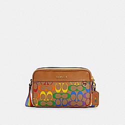 COACH C4007 Graham Crossbody In Rainbow Signature Canvas QB/KHAKI MULTI