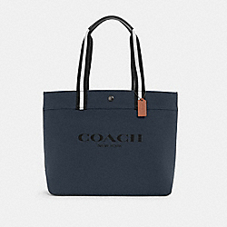 COACH C4017 - TOTE 38 WITH COACH QB/MIDNIGHT NAVY