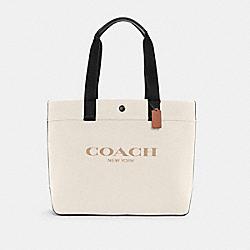 COACH C4017 - TOTE 38 WITH COACH QB/CHALK