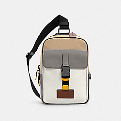 TRACK PACK IN COLORBLOCK - QB/CHALK LIGHT GRAVEL - COACH C4018