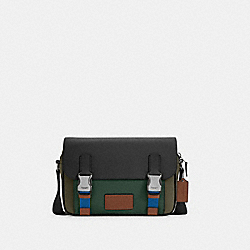 COACH C4021 - TRACK CROSSBODY IN COLORBLOCK QB/DARK CLOVER MULTI