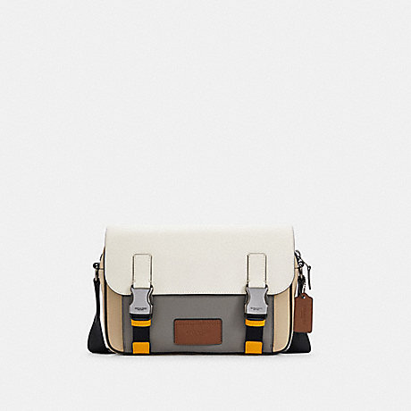 COACH C4021 TRACK CROSSBODY IN COLORBLOCK QB/CHALK LIGHT GRAVEL