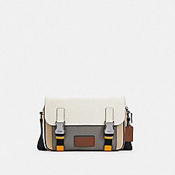 COACH C4021 - TRACK CROSSBODY IN COLORBLOCK QB/CHALK LIGHT GRAVEL