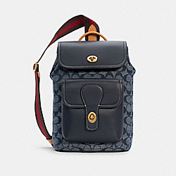 HERITAGE PACK IN SIGNATURE CHAMBRAY - B4/DENIM - COACH C4031