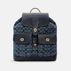 COACH C4037 - HERITAGE BACKPACK IN SIGNATURE CHAMBRAY B4/DENIM