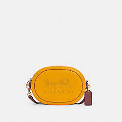 CAMERA BAG WITH HORSE AND CARRIAGE - C4056 - IM/OCHRE/VINTAGE MAUVE