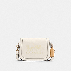 COACH C4058 - SADDLE BAG WITH HORSE AND CARRIAGE IM/CHALK/VANILLA CREAM