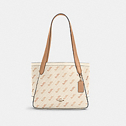 COACH C4060 Horse And Carriage Tote 27 With Horse And Carriage Dot Print IM/CREAM