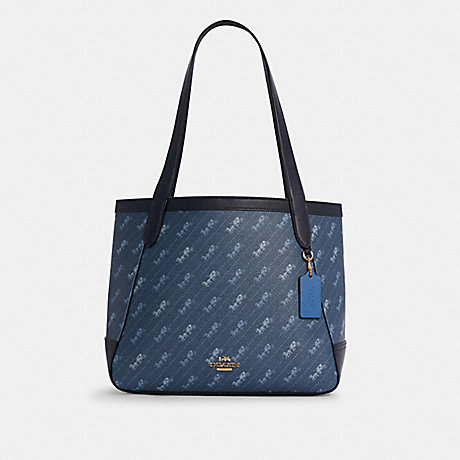 COACH C4061 HORSE AND CARRIAGE TOTE WITH HORSE AND CARRIAGE DOT PRINT IM/DENIM
