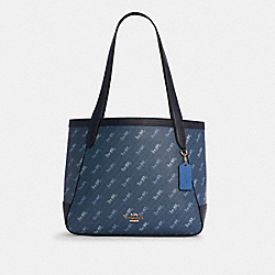 COACH C4061 - HORSE AND CARRIAGE TOTE WITH HORSE AND CARRIAGE DOT PRINT IM/DENIM